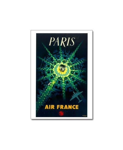 Carte postale Air France, Paris - Arc de triomphe
