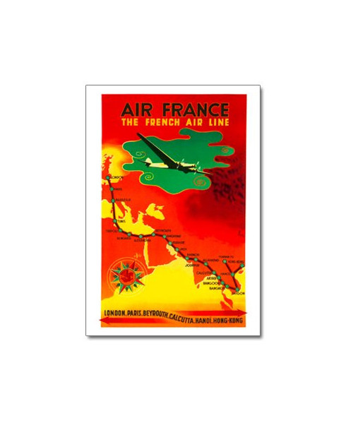 Carte postale Air France, The French Air Line