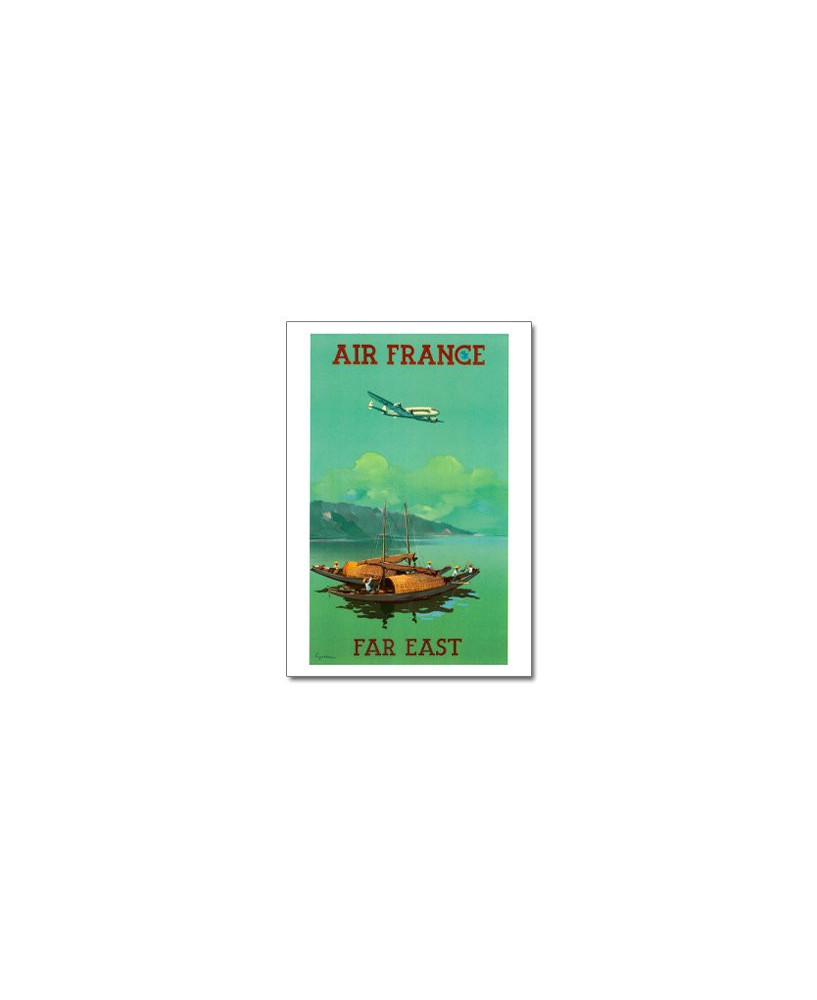 Carte postale Air France, Far East