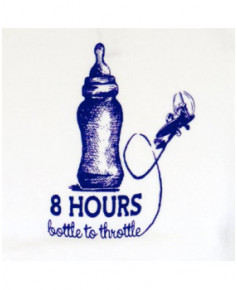"Body bébé ""8 hours bottle to throttle"" - Taille : 6 mois"