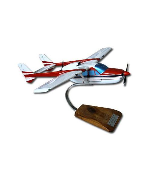 Maquette bois Cessna 337