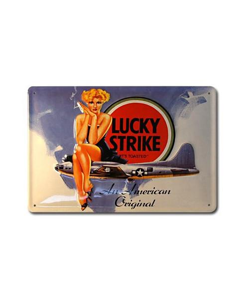 Plaque décorative en relief Lucky Strike (30 x 20 cm)