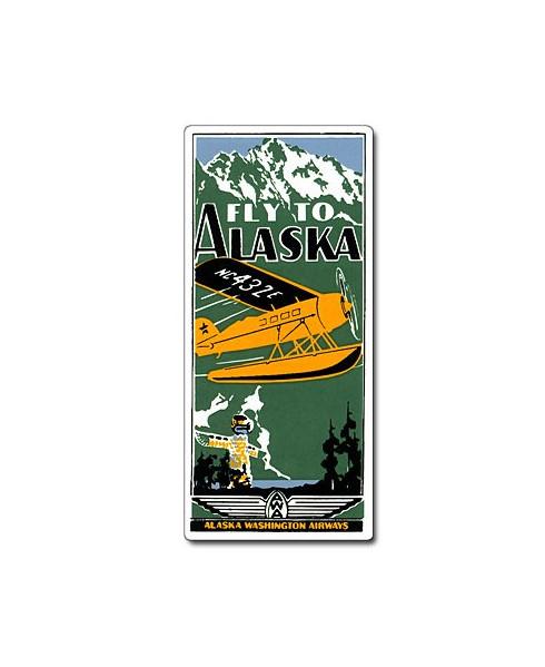 Magnet émaillé Fly to Alaska