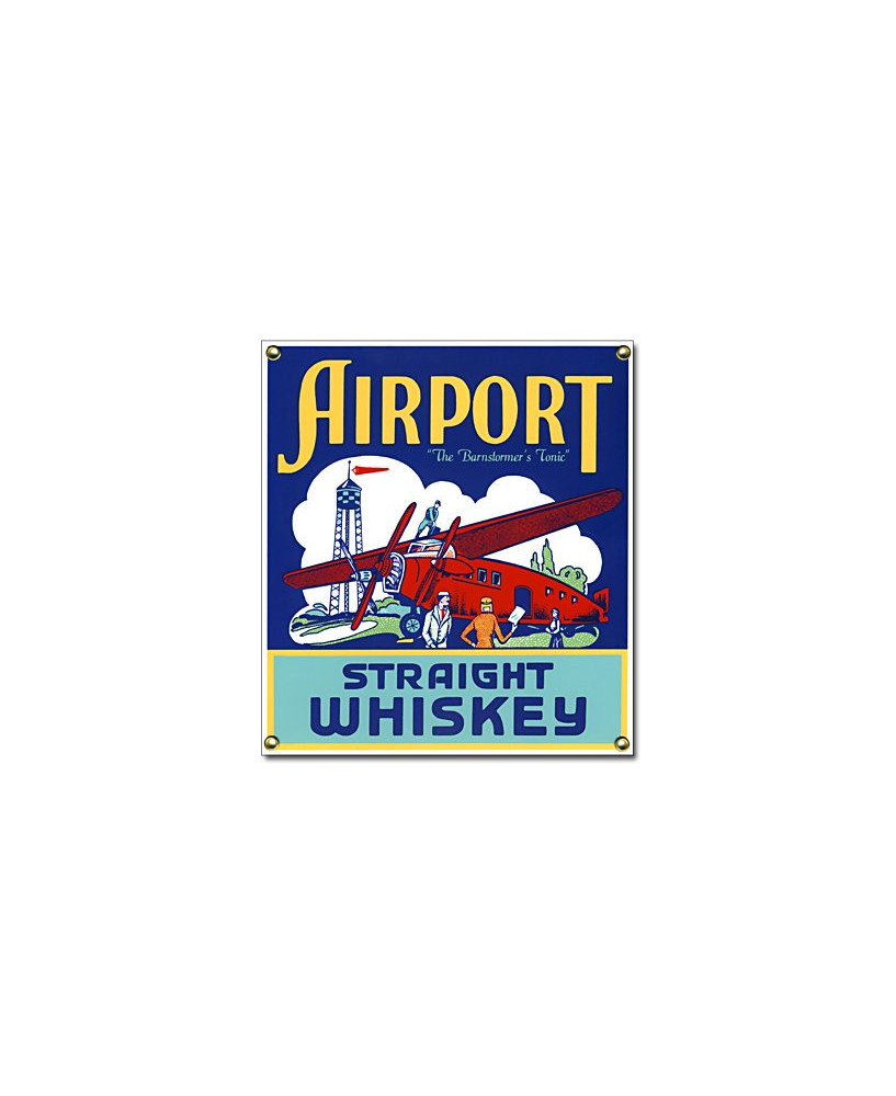 Plaque émaillée Airport Straight Whiskey