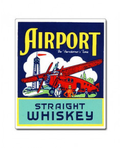 Magnet émaillé Airport Straight Whiskey