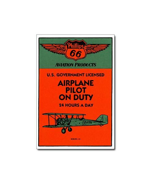 Magnet émaillé Airplane Pilot on Duty