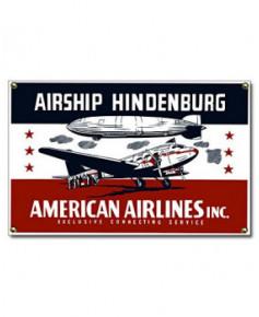 Plaque émaillée Airship Hindenburg