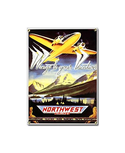 Plaque émaillée Northwest Airlines
