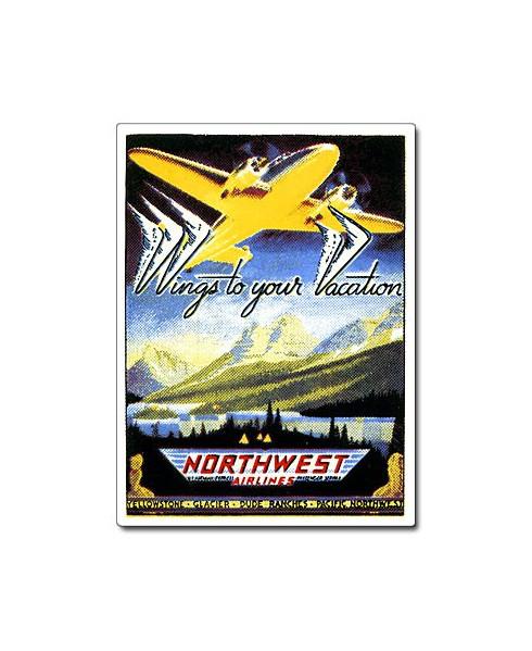 Magnet émaillé Northwest Airlines