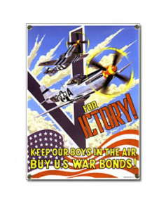 Plaque émaillée V for Victory