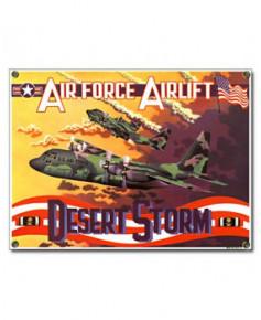 Plaque émaillée Desert Storm