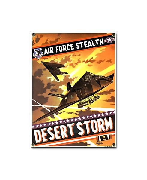 Plaque émaillée Air Force Stealth