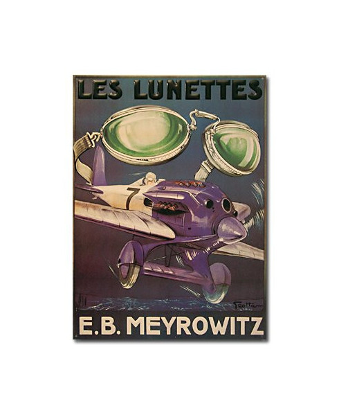 Plaque décorative en relief Lunettes Meyrowitz