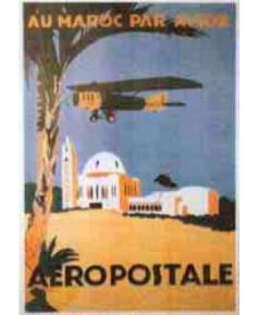 Affiche Aéropostale Au Maroc par avion