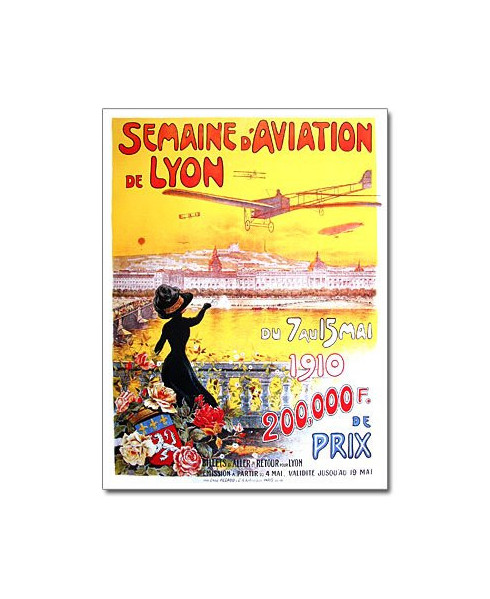 Affiche Meeting d'Aviation de Lyon