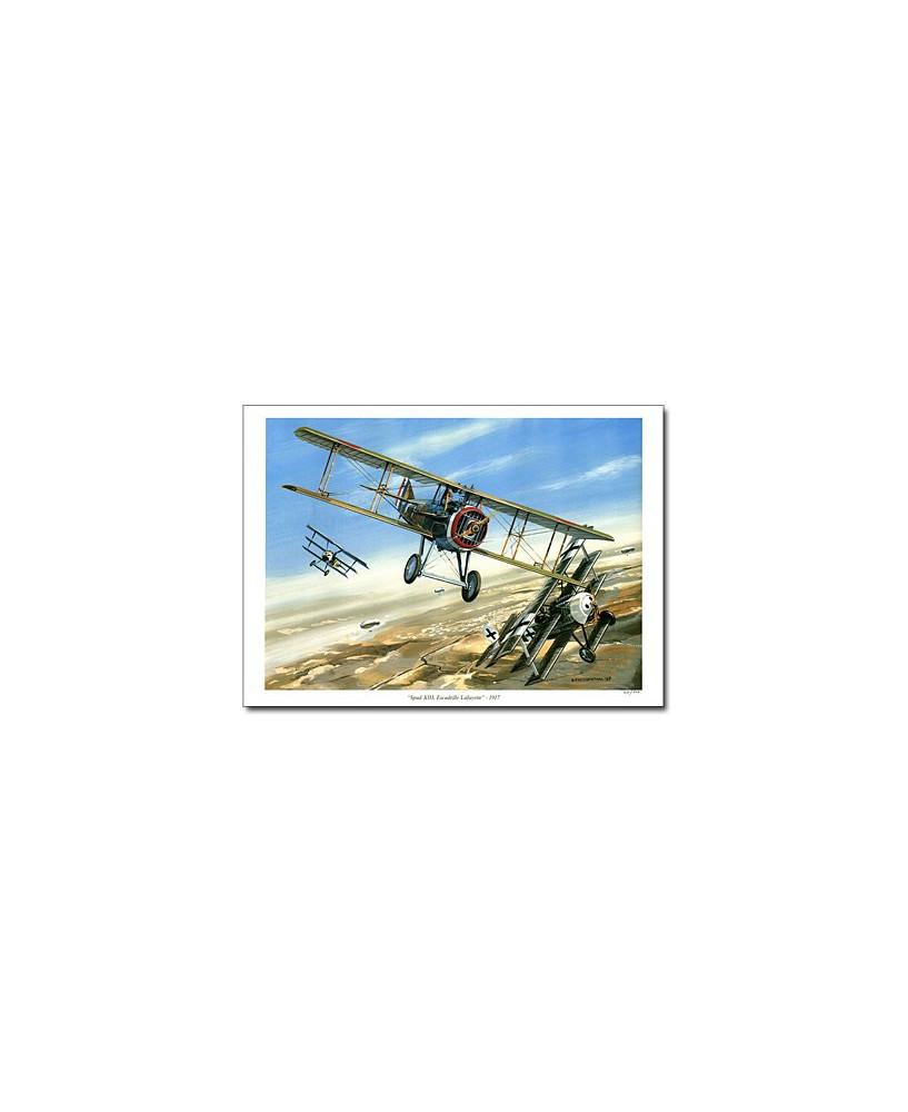 Poster Spad XIII Escadrille Lafayette