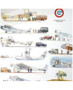 Poster Avions commerciaux Français