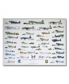 Poster Avions américains aux couleurs françaises (1)