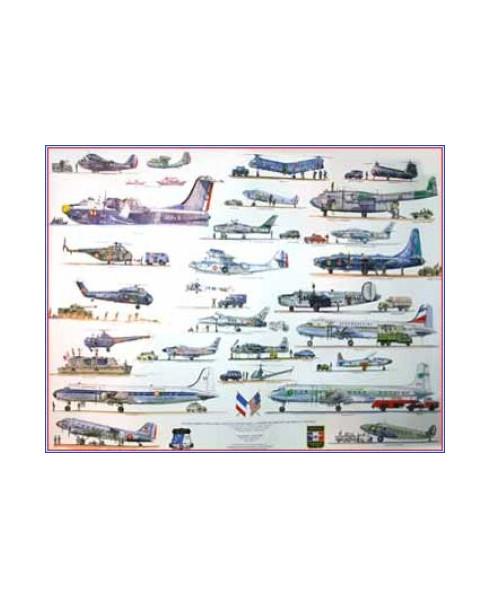 Poster Avions américains aux couleurs françaises (2)