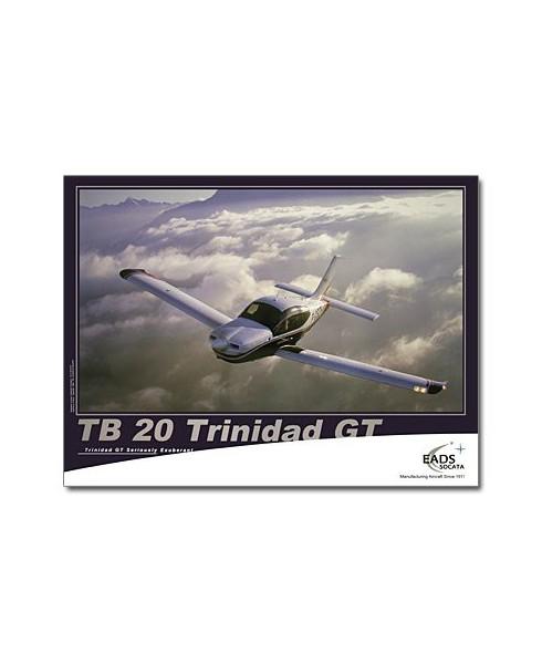 Poster TB20 en vol