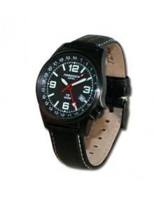 Montre Torgoen T05 104 - boîtier noir, cadran noir et bracelet noir en cuir