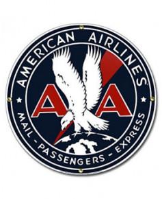 Plaque émaillée American Airlines Express