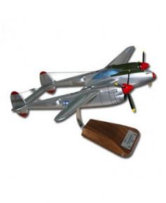 Maquette bois P38J Lightning U.S.A.F.