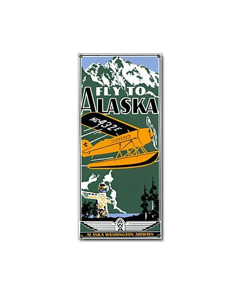 Plaque émaillée Fly to Alaska