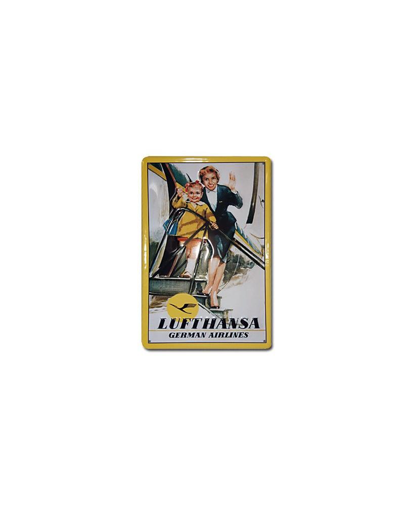 Plaque décorative en relief Lufthansa (20 x 30 cm)