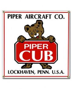 Plaque émaillée Piper Cub