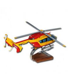Maquette bois EC145 Sécurité Civile