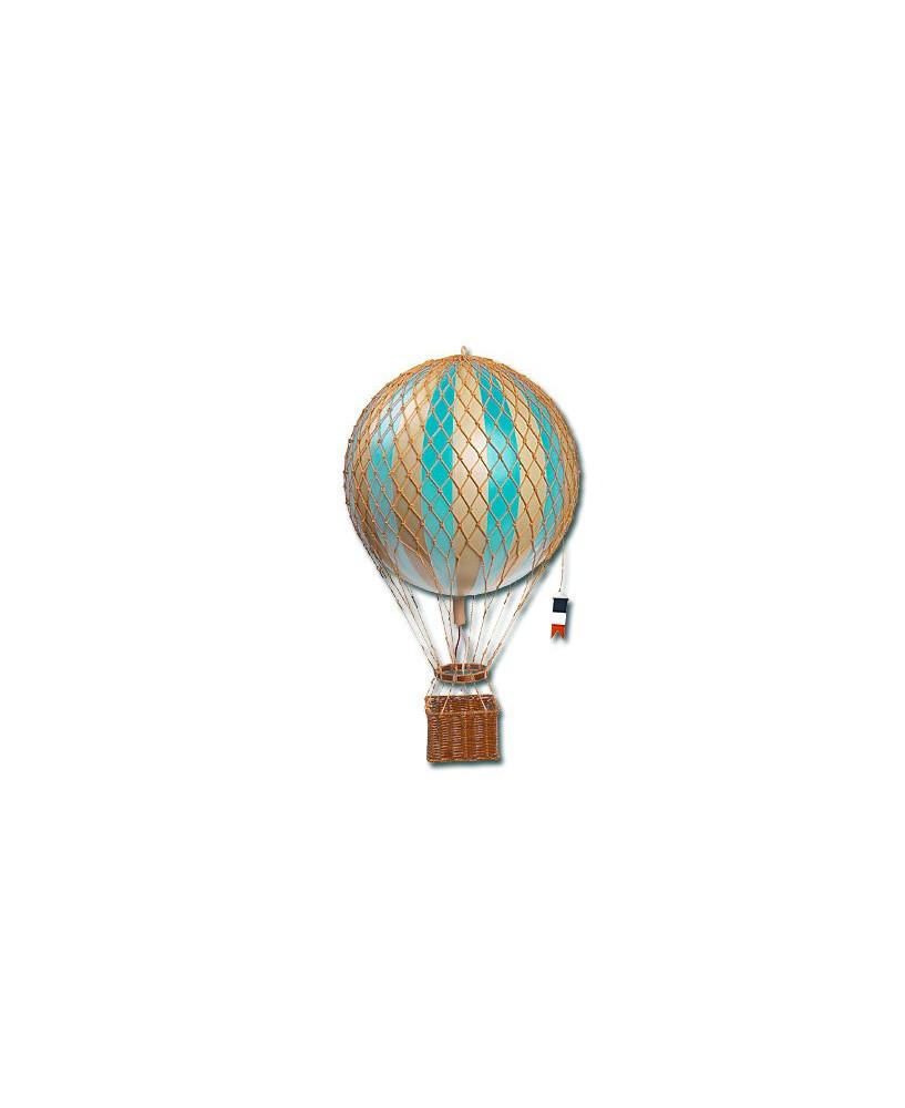 Maquette montgolfière bleue ciel diamètre 18 cm