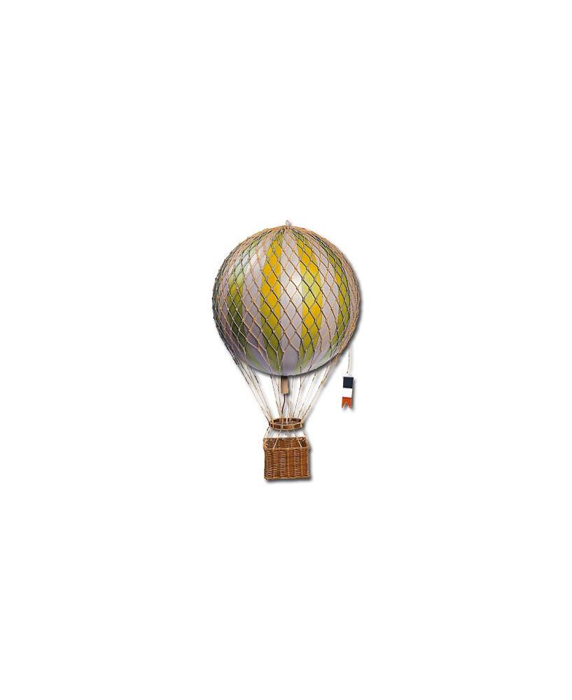 Maquette montgolfière jaune diamètre 18 cm