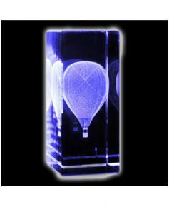 Bloc de verre Montgolfière 30x30x70 mm