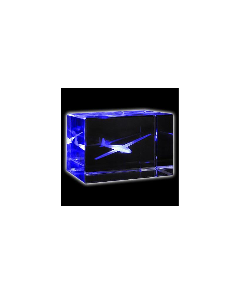 Bloc de verre planeur ASK13 50x50x80 mm