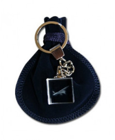 Porte-clés bloc de verre Cessna