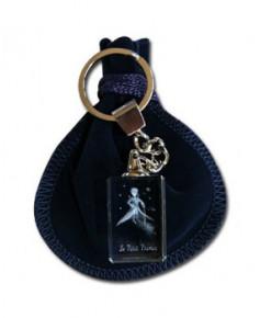 Porte-clés bloc de verre Petit Prince en tenue de gala