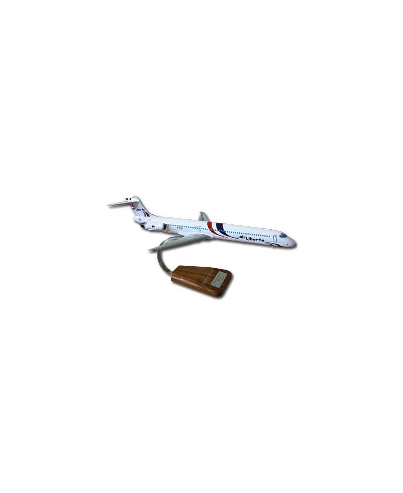 Maquette bois MD83 Air Liberté