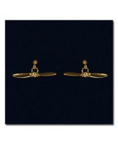 Boucles d'oreilles plaqué or hélice
