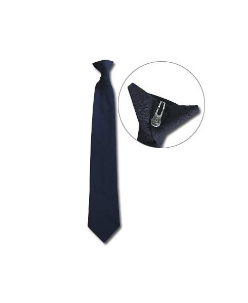Cravate bleu marine à clip
