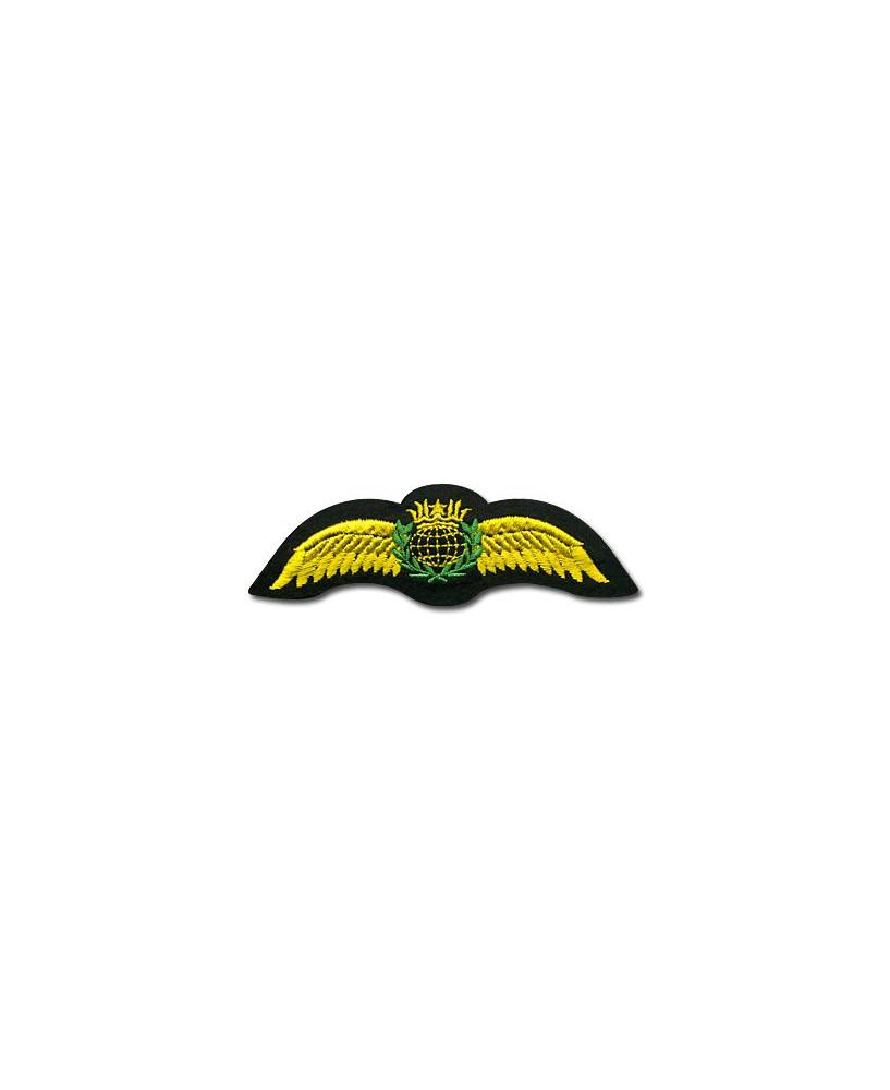 Insigne pilote dorée avec couronne - Finition en fil doré - 115 mm