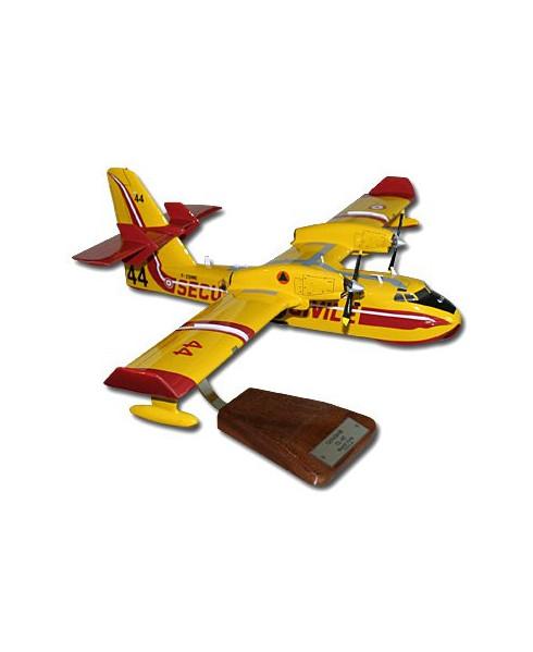 Maquette bois CL415 Canadair Sécurité Civile