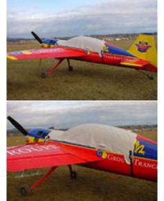 Bâche avion finition Eco-light Top verrière pour Yak 54