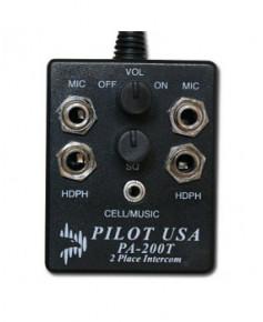 Intercom Pilot Comm PA200T pour 2 casques