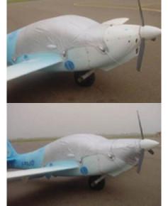 Bâche avion finition Eco-light Plus verrière pour Europa monotrace