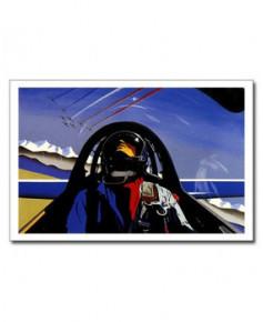 Carte postale Jean-Pierre CONDAT - A bord du Fouga