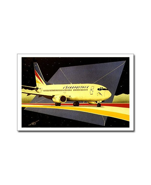 Carte postale Jean-Pierre CONDAT - Boeing 737 d'Aéropostale