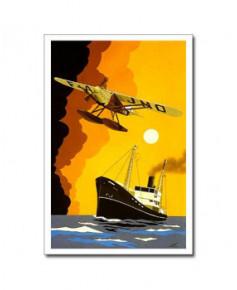 Carte postale Jean-Pierre CONDAT - A la lune de Mai
