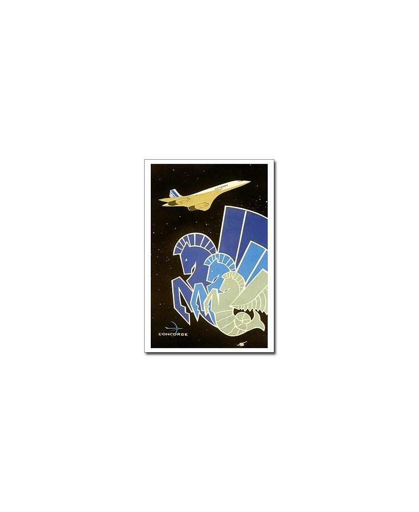 Carte postale Jean-Pierre CONDAT - Concorde stellaire