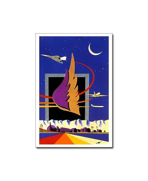 Carte postale Jean-Pierre CONDAT - Toulouse avec deux ailes
